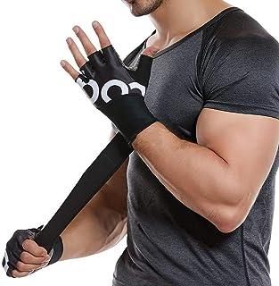 Cypin トレーニンググローブ メンズ レディース 筋トレ ウェイトリフティング ジム 指切り自転車用手袋 リストフラップ付き 3サイズ 男女兼用