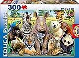 Educa Borrás-Foto de Clase Animales Salvajes Puzzles, Multicolor, 300...