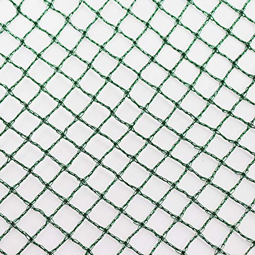 Aquagart® Teichnetz, dunkelgrün, besonders engmaschig: Maschenweite 12mm x 12mm, Laubnetz, Teichabdecknetz, Vogelabwehrnetz, Reihernetz robust verschiedene Größen (4m, 10m breit grün)