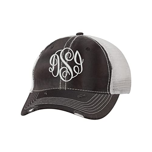 C. Claire Embroidery Women s Monogrammed Trucker Hat 5714f373eb6f