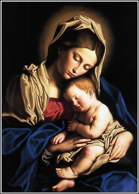 Amazon.com: Virgen María Niño Jesús Glossy Poster fotos Cristianismo  Religión Dios: Home & Kitchen