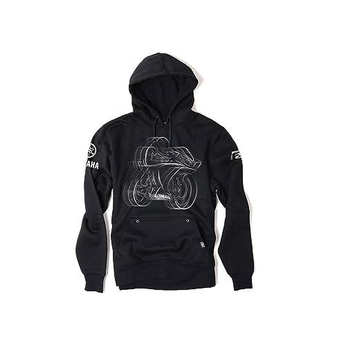 Factory Effex 16-88224 YAMAHA R1 Pullover Sweatshirt (Black, ...