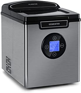 KLARSTEIN Icemeister 2G - Machine à glaçons, 12 kg/24 h, production en 6-10 minutes, 3 tailles de glaçons, réservoir d'eau...