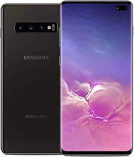 Samsung Galaxy S10+ Plus G975F GSM Unlocked Smartphone (Renewed) (Ceramic Black, 512GB)