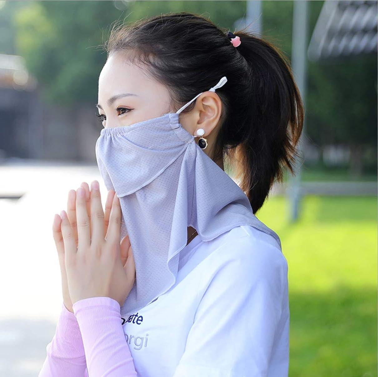 絡み合い問い合わせジャンクションCasomiフェイスカバー冷感 ネックガード鼻部分開口で呼吸しやすいラッシュガーくない 冷感保護日焼け止め防塵UPF 50 + UV通気性軽量滑り止め 日焼け防止フェイスマスク