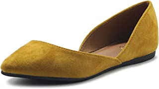Women's Shoes Faux Suede Slip On Comfort Light Pointed Toe Ballet Flat