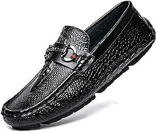 [OceanMap] ビット付き ドライビングシューズ メンズ カジュアルシューズ 靴 ローファー デッキシューズ モカシン メンズシューズ 靴 メンズ スニーカー 大きいサイズ スクエアトゥ 幅広 甲高 歩きやすい 屈曲性 防水 24 27