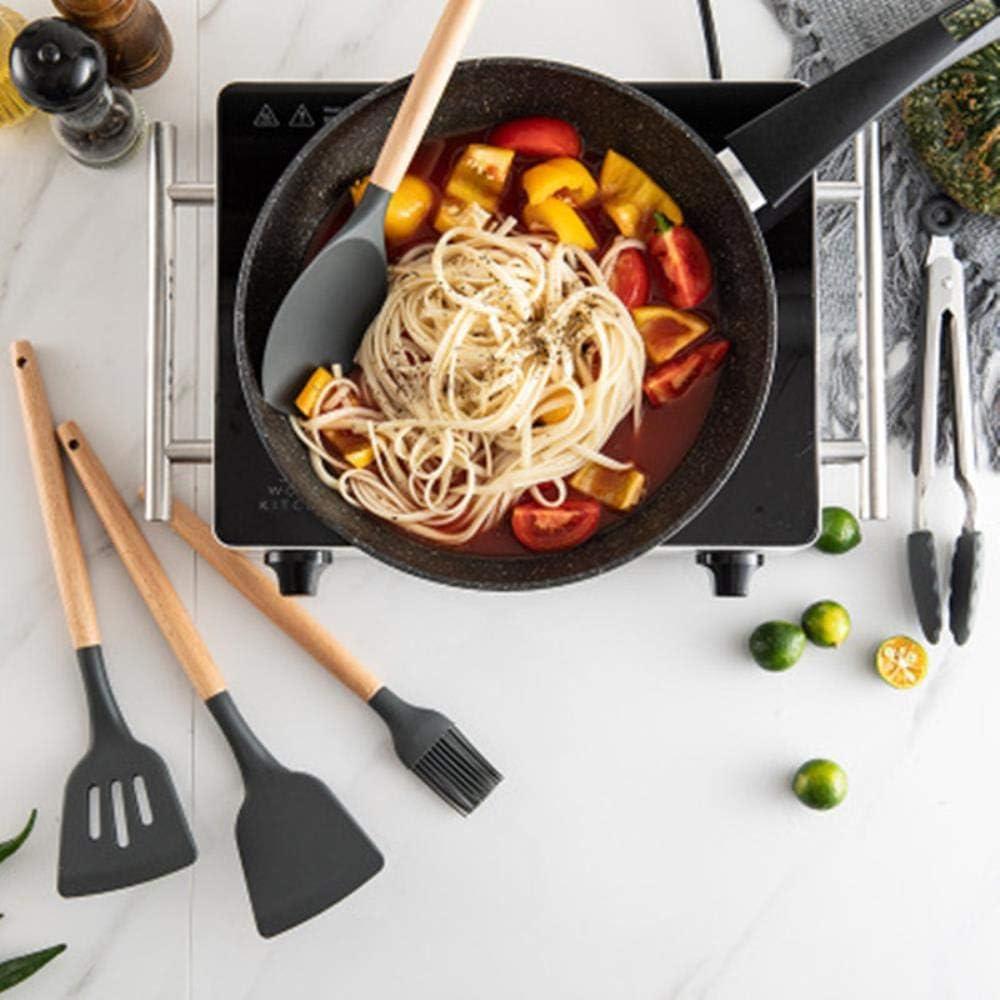 12-teiliges Silikon-Küchenutensilien-Set, hitzebeständig, antihaftbeschichtet, Kochutensilien, Backutensilien mit Aufbewahrungsbox B-9-teiliges Küchen-Set. 10-teiliges Küchen-set.