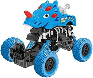 Dinosaur Truck Toys, Hamkaw Dumper Truck Stunt 360ツー Spin Friction Powered Cars Toy for Kids, Push and Go Vehicles Toddler Toys, Perfect Gift for Aged 3-12 Year Old Boys & Girl