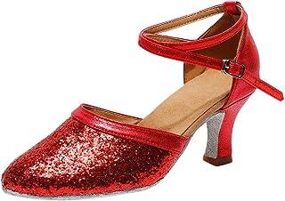 LOVOZO Womens Fashion Waltz Modern Dance Shoes Ballroom Latin Dance Soft Bottom Sandals