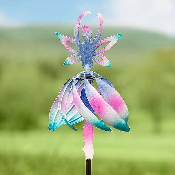 Amazon.com : SLQX Dance Angel Wind Spinner Decor, Wind Spinners Outdoor Metal, Yard Windmill Decoration, Garden décor pinwheels, Colorful Garden Art, Lawn Decor Outdoor Decor Yard Decor Patio Decor Kid