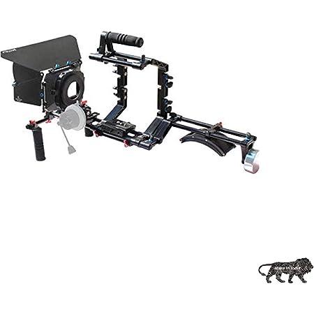 Shootvilla DSLR Camera Shoulder Support Rig Kit with Cage & Matte Box   DV HDV DSLR Video Camcorders Compatible   Free - Offset Z Bracket (SV-02)