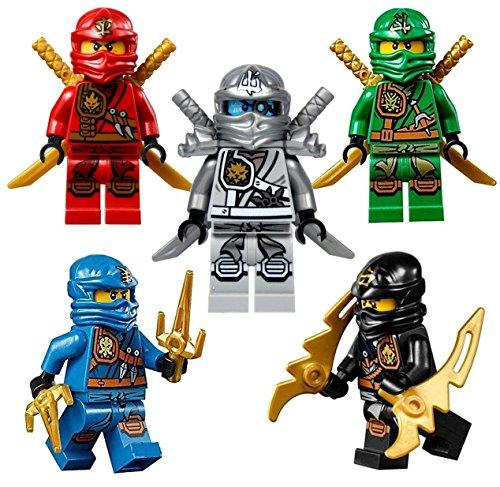 Lego® NinjagoTM Ninja's Set of 5 - Lloyd, Cole, Jay, Kai, Zane Zukin Robes Minifigures (2015)