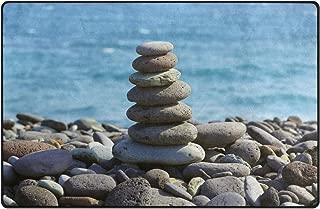ALAZA Pyramid Pebble Sea Stone Ocean Area Rug Rugs Non-Slip Floor Mat Doormats Living Room Bedroom 31 x 20 inches