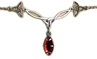 Moon Maiden Jewelry Celtic Triquetra Trinity Knot Headpiece Ruby Red