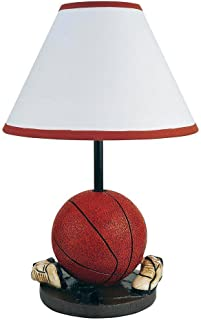 Hongville HV-TLAMP-31604BA Bedroom Game-Room Decor Table Lamp, Sport Themed Design, Basketball