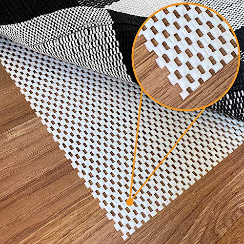 NonSlip Rug Pad Gripper  4 x 6 Ft Anti Skid Carpet Mat Provides Protection for Hardwood Floors and Hard Surfaces Extra Strong Grip and Thick Padding for Safe and in Place Your Area Rugs amp Runners