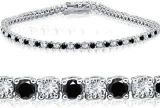 3ct Black & White Diamond Tennis Bracelet 7