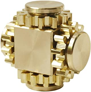 DMaos Fidget Cube Spinner, Linkage 4 Gears Figity Spin Finger Games, Metal Brass with Super Smooth Bearings, Durable Mecha...