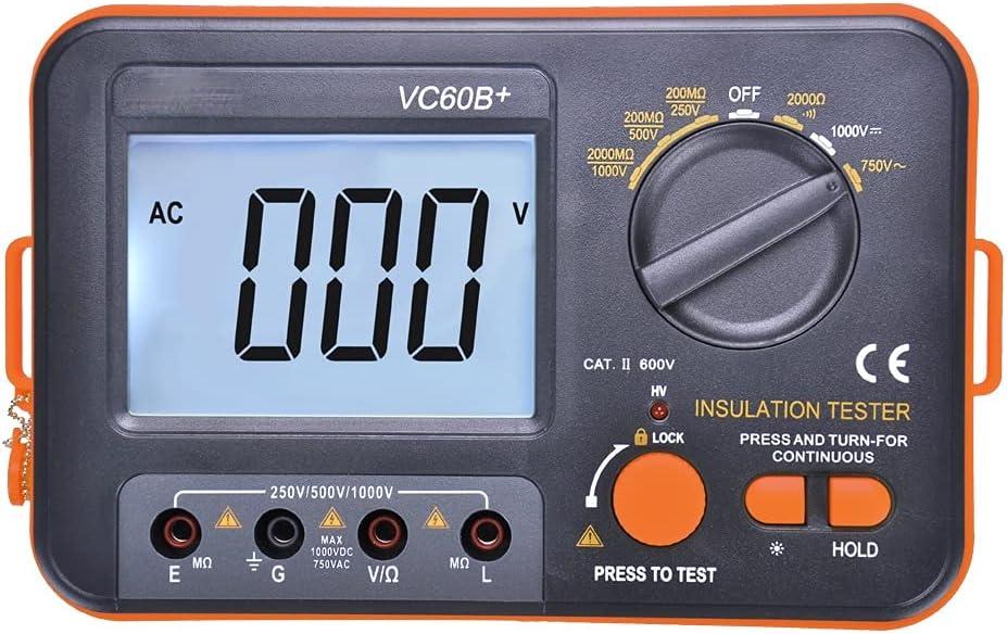 SPNEC VC60B+ Digital Insulation Resistance 5 popular Ranking TOP12 Tester LCD Megg 1000V