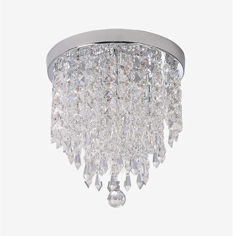 MMJ Moderne K9 Kristall Regentropfen Kronleuchter Beleuchtung Unterputz LED Deckenleuchte für Esszimmer Badezimmer Schlafzimmer Wohnzimmer E12   E14 Lampen erforderlich, 250  250 250 mm