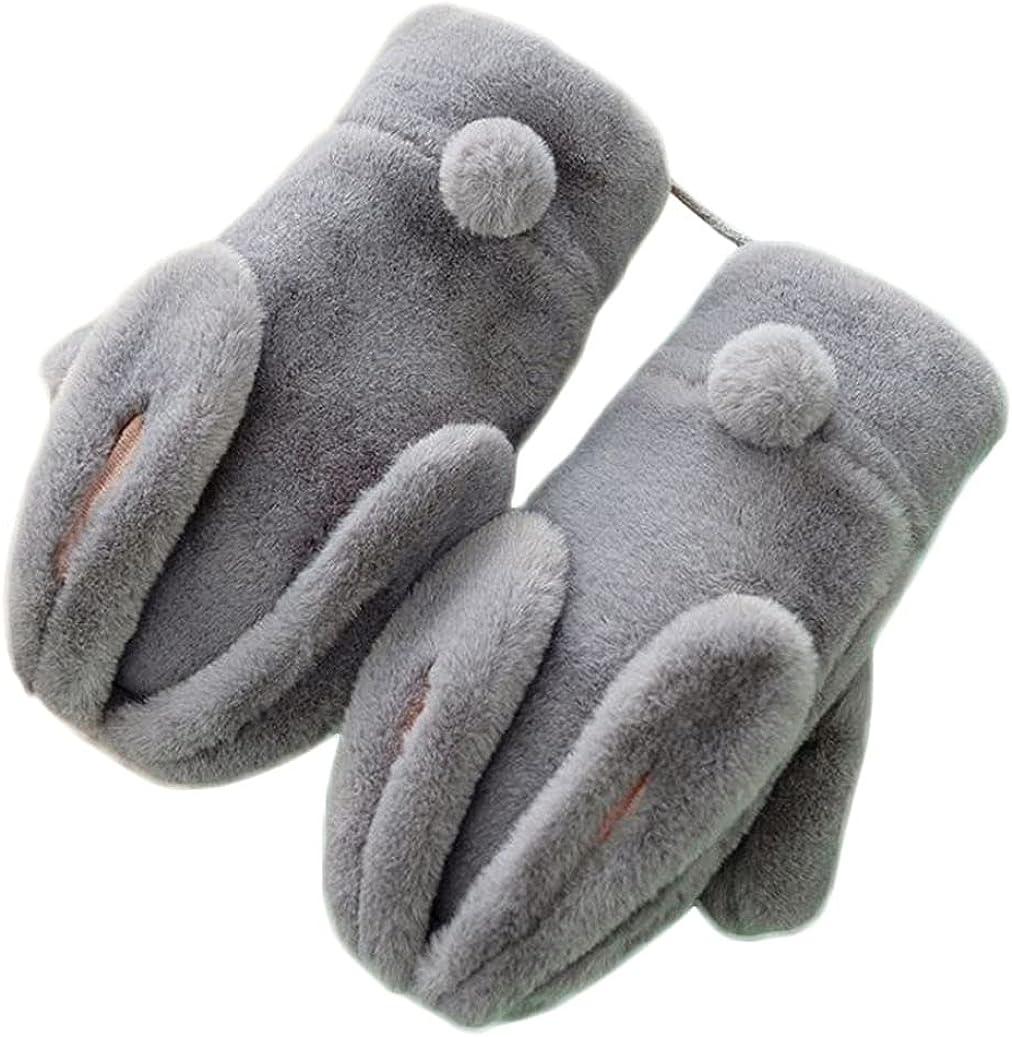 Winter Mittens For Women Cold Weather Cute Animal Rabbit Bear Shark Mitten Ski Mitten Warm Gloves