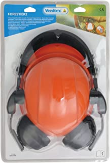 Venitex Forestier2 Forestry Safety Helmet With Ear Defenders And Face Shield With Black Plastic Edge. En397, En352-3 And En1731