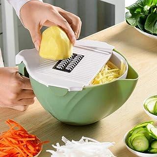 ZJZ 10-en-1 Coupe-légumes Slicer Chopper Shredder avec passoire Bol passoire, éplucheur Outil de Cuisine Multifonctionnel