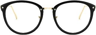 Blue Light Blocking Vintage Round Metal Optical Eyewear Non-prescription Eyeglasses Frame for Women