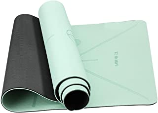 Veramz Eco Friendly Non Slip Fitness Exercise Mat with Carrying Strap-Workout Mat for Yoga, Pilates and Floor Exercises