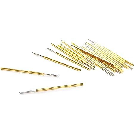 P100J Spherical Tip Spring Loaded Test Probe Pin 33mm Length 100Pcs