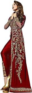 Marron Indian Bollywood Malaika Georgette Net Anarkali Pant Suit Women Party wear Salwar Kameez Ethnic Semi-stitch 9215
