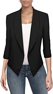 Womens Casual Work Office Open Front Blazer Jacket with...