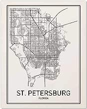 St. Petersburg Poster, St. Petersburg Map, Map of St. Petersburg, City Map Posters, Modern Map Art, City Prints, Minimal Print, Map Poster, City Poster, City Map Wall Art, Minimalist Posters, 8x10