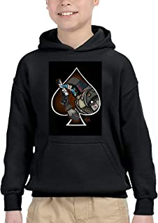 Unisex Kids Boys Destiny-2 Forsaken Cayde Pullover Hoodie Sweatshirt with Front Pocket