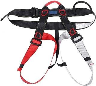 حزام رابيلينج خفيف الوزن ، حزام أمان ، حزام أمان نصف الجسم متين للظروف المرتفعة (أحمر رمادي)
