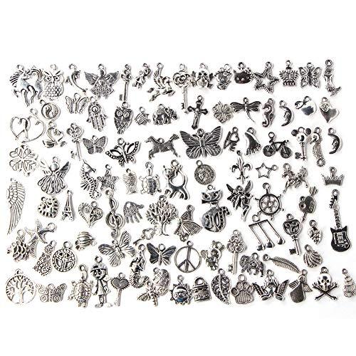 Changor Accesorios de Colgantes de artesanía de Plata Oscura, con Servicio de Vida de aleación electroplastia para Hacer Pulsera