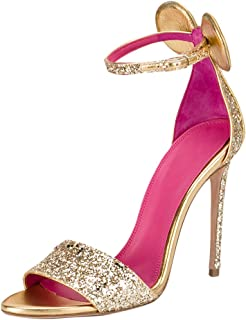 Women's Open Toe Mouse Ears Decoration Ankle Strap Pink Insole Stiletto High Heel Sandals