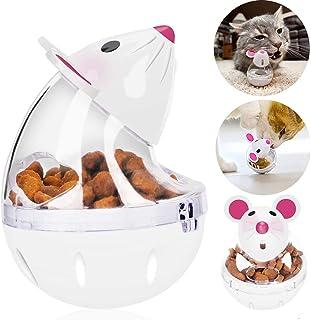 猫おやつおもちゃ ペット 給餌おもちゃ おやつボール かわいい 猫用 ネズミ型 丈夫で長持ち 猫の遊び好き天性満足 IQ&挙動激励 運動不足解消 (ホワイト)