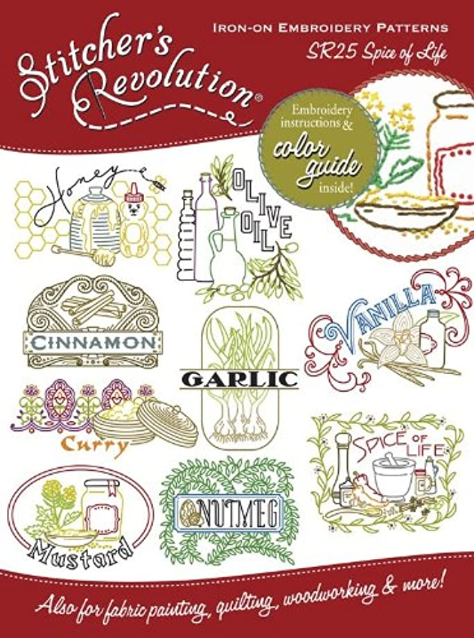 Stitcher's Revolution Spice of Life Iron-On Transfer Pattern for Embroidery
