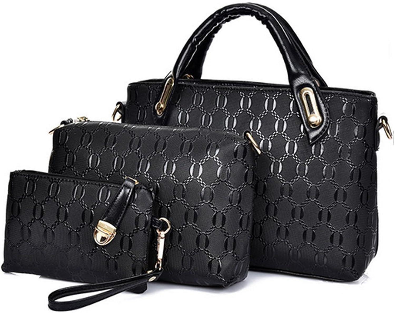 Fleeting Time Women's European and American Handbags Three-piece Crocodile Shoulder Bag
