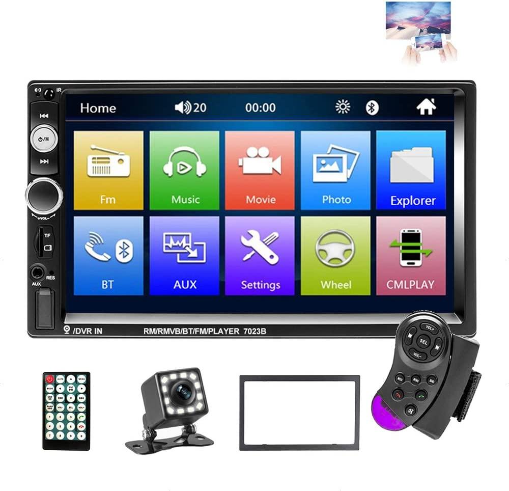 EKAT Double Din Car Stereo Receiver Max 62% OFF Radio Sy Long Beach Mall 7