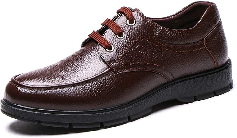 LXLA - Mans Business Casual Lace up läder skor, män s Comfortable Round Head Loafers for Mans (färg  bspringaaa, Storlek  42)