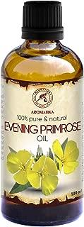 Aceite de Onagra Vespertina 50ml - Oenothera Biennis - Evening Primrose Oil - Botella de Vidrio - Prensado en Frío y Refinado - Aceite Onagra Vespertina Para Rostro - Cuerpo - Cabello - Piel - Masajes