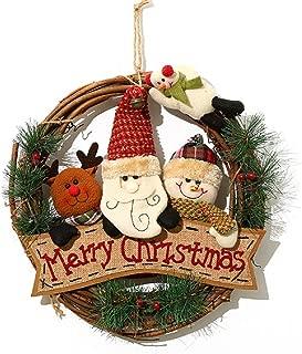 Set Completo con 2 astas y 1 Nariz de Reno XONOR Christmas Car Astas Disfraz de Orejas de Reno para Navidad astas de Reno con Nariz de Reno de Felpa para Parrilla de Coche Caqui
