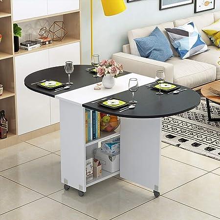 XIAOPING Table Pliante Moderne Petit Appartement Table Pliante Maison Ronde Ovale Salle à Manger Salon 8 Couleurs (Color : F)