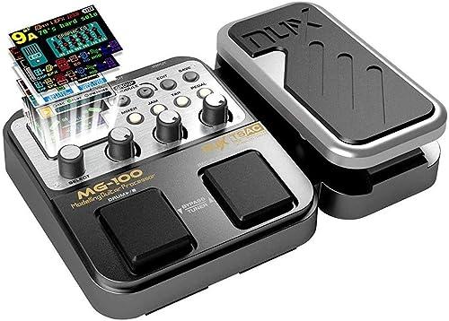 MG-100 Multi Effets Pédale Guitare Processeur de Musique Pièces 40s Enregistrement 58 Types de Tambours 55 Effet Mode...