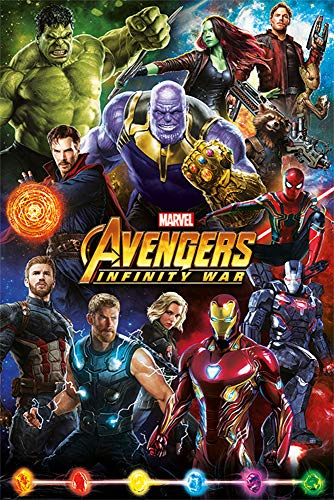 Tainsi Avengers: Infinity War Characters Movie Poster #2 - Matte Poster Frameless Gift 11 x 17 Zoll (28 x 43 cm) *IT-00016