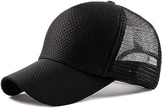 2019 Women Mesh Baseball Cap for Unisex Adjustable Sports Summer Trucker Hat Breathable Plain Solid Color Sun Hat (Color : 1, Size : Free Size)