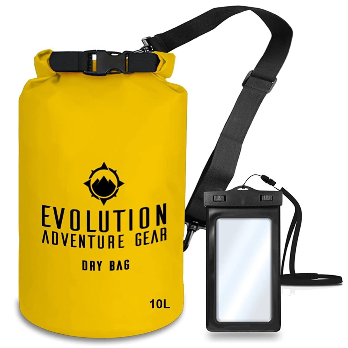 Evolution Floating Waterproof Dry Bag – Professional Adventure Gear - Roll Top Compression Sack for Kayaking, Boating, Hiking, Fishing, Camping and Outdoor Travel